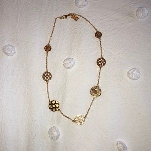 Coach gold plated circle necklace